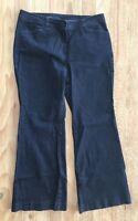 Talbots HERITAGE -SLIM FLARE- Dark Wash Denim Blue Trouser Jeans- Size 14P/ 32