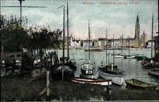 ANVERS Antwerpen Belgien ~1910 CPA Hafen Schiffe Boote Stadt Panorama Belge AK