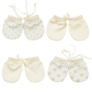 Newborn Mittens No Scratch Baby Gloves Cotton Baby Mittens for Infant Baby Boys