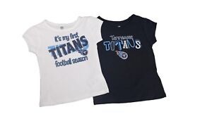 Tennessee Titans Official NFL Girls Infant Toddler Size 2 Shirt Combo Set New