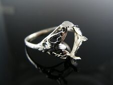 5581 RING SETTING STERLING SILVER, SIZE 7.5, 9MM CAB  STONE