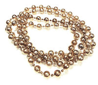 VINTAGE JEWELRY - 1980s Gold Disco Bauble Round Bead Long Necklace