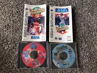 World Series Baseball 1 & 2 Bundle Lot of 2 Sega Saturn Games - WORKS AUTHENTIC