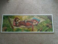 Large Framed Chip and Dale Sleeping Hammock Disney Panoramic puzzle Japan Import