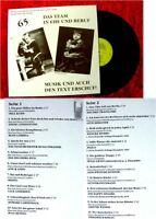 LP Werner Raschek & Charlotte Dieter: Musik & Text von