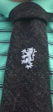 BRAND NEW DARK GREY 100% Pure Wool Skinny Tie Quality HOGMANAY Scotland Tweed
