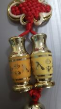 Gold-plated Double Vase Feng Shui Happiness Prosperity
