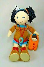 HABA 5197 Puppe Indianerin Sihu mit Baby ca. 35 cm Weichpuppe RAR