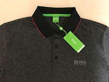 "Men's Hugo Boss Green Label ""PAULE PRO 3"" POLO Shirt, Color-BLACK,Size-2XL/XXL."