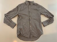 Gant Windblown Oxford Fitted Long Sleeve Plaid Button Front Shirt Men's L
