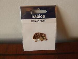 'Habico' HEDGEHOG iron/sew on motif embellishment child adult