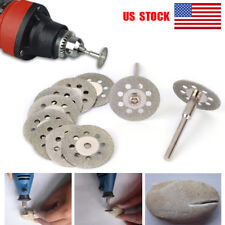 US 10X 22mm Diamond Cutting Off Disc Fits Dremel Rotary Tools Blade Wheel Tools