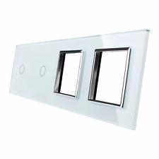 Livolo Glasrahmen Touch Glasblende für Lichtschalter Steckdose C1/C1/SR/SR-11