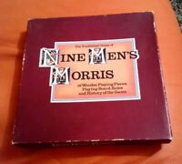 VINTAGE TRADITIONAL GAME OF NINE MEN'S MORRIS NICE CONDITION RARE GAME 1976