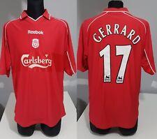 Liverpool 2000 2002 Home #17 GERRARD football shirt soccer jersey Reebok L men