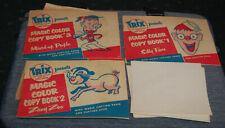 1950s Trix Cereal Child's Toy Magic Color Copy Books Complete