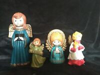 4 Pc Lot! Vintage Paper Mache Angels! Made In Japan!
