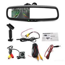 "4.3"" Reversing Dimming Rear View Mirror Monitors w/Rear LED Camera Night Vision"