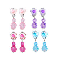 4 Pairs Children Kids Earrings Pendant Earrings Set Jewelry Pretend Play