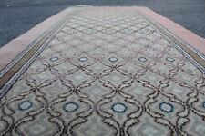"FREE SHIPPING Vintage Handmade Turkish Kitchen Oushak Runner Rug 10'1""x2'8"""