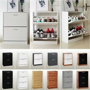 Shoe Rack Shoes Storage Cabinet Wooden Unit Stand Cupboard 2 3 Drawer Organiser