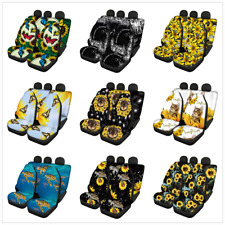 Sunflower pattern Car Seat Covers Full Set Seat Universal Fit Most Car Truck SUV