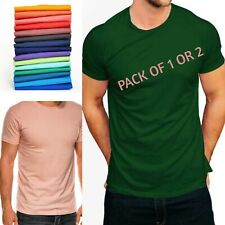 Men's Plain T-shirt   (12 Colours, Size XS to 3XL / PACK OF 1 or 2 )