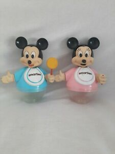 Deux Tirelire Mickey Minnie Smarties Disney Nestlé Vintage