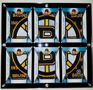 6 Vertical Card W/ Dividers Black diamond Rookie Team Logo Jumbos Display Case.