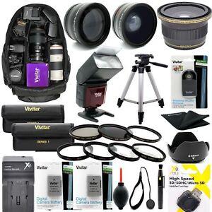 Accessory Kit For Nikon D3500 D5300 W AF-P DX18-55mm Lens TRIPOD BACKPACK LENSES