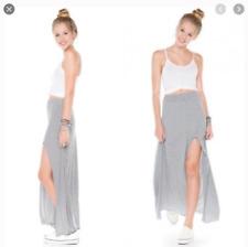 Brandy Melville Slit Striped Maxi Skirt