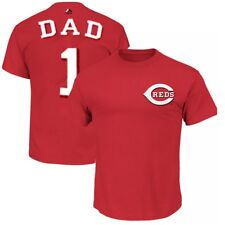 Cincinnati Reds MLB Mens Majestic #1 Dad Shirt Red Big & Tall Sizes