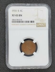 1931-S Lincoln Wheat Cent | NGC XF45