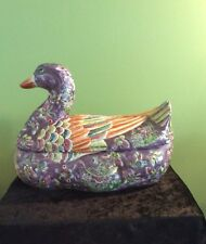 Rare Large Chinese Porcelain DuckTureen Or Container