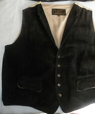 MENS CORONADO GENUINE LEATHER VEST SIZE 54 BLACK