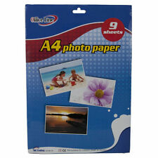 A4 100 SHEETS WHITE HIGH QUALITY GLOSSY PHOTO PAPER FOR PRINTERS 210GSM QUALITY