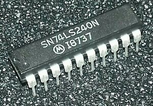 5pcs SN74LS240N OCTAL BUFFER/LINE DRIVER WITH 3-STATE OUTPUTSDIP20