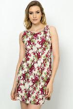 Womens Printed Tea Holidays Beach Dress Size UK (8-10)