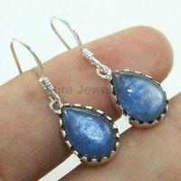 Handcrafted 925 Sterling Silver Kyanite Gemstone Wedding Earrings