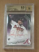 2017 Topps NOW Dansby Swanson BGS 9.5/10 Purple Autograph RC 1/25 Auto Rookie