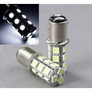 White 18 LED #1157 Pair 12V Tail Light Rear Brake Stop Turn Signal Lamps Bulbs