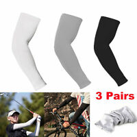 3 Pairs Sun UV Protection Arm Sleeves Covers Outdoor Sport Bike Cycling Golf