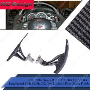 CF Lenthened Shift Paddle 2X2 Twill Matte For 08-16 Nissan R35 GTR CBA DBA EBA