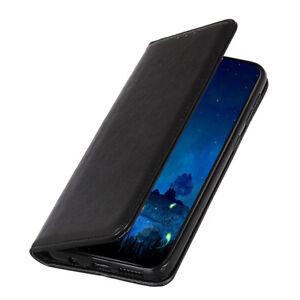 Handy Tasche für Samsung Schutz Hülle Flip Case Schutz Etui Book Cover Schwarz