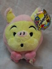 "NEOPETS Pet Pets PINK & YELLOW SNORKLE 3"" Plush STUFFED ANIMAL Toy NEW w/ TAG"