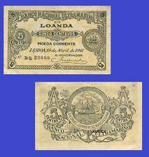 Angola 5 Centavos 1918. UNC - Reproduction