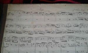 Orgelnoten Orgel Noten um 1900 Handschrift Rheinberger Fuge, Guilmant Sonate