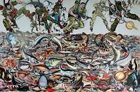 ERRO -  Fishscape (1994) Ausstellungsplakat / Offset handsigniert und datiert.