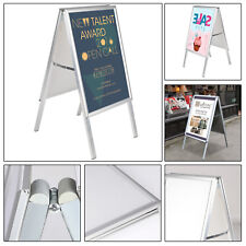 NEW A2 WATERBASE PAVEMENT POSTER SIGN A-BOARD HOLDER SNAP FRAME DISPLAY STAND