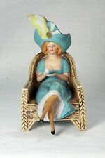 Antique German Schafer and Vater Bisque Seated Woman  c1910